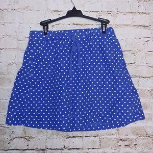 {J. Crew} polka dot skirt